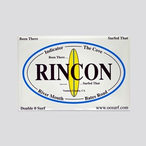 Rincon Surf Spots Rectangle Magnet